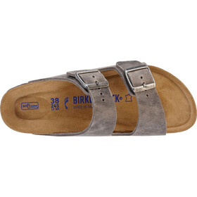 Birkenstock Arizona Soft Footbed Sandals Oiled Leather Narrow, iron